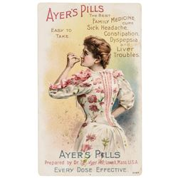 Four AYERS Encased Postage Merchant Related Advertising Trade Cards