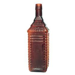 c. 1862, DRAKES PLANTATION BITTERS Bottle Quart, Encased Postage Stamp Related