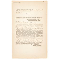 November 25, 1864-Dated Civil War Period Printed Document, Near Mint.