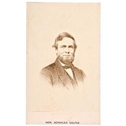 1860s Civil War Period, Carte de Visite Photograph of Schuyler Colfax