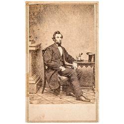 c 1861 Pres. Abraham Lincoln Original Carte de Visite Photograph by Mathew Brady