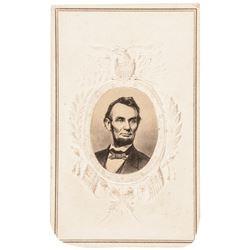 c 1863 Civil War President Abraham Lincoln Patriotic Carte-de-Visite