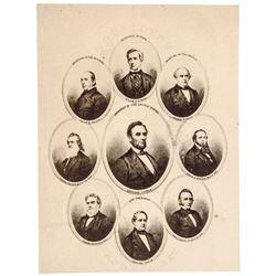 c. 1865 Civil War Abraham Lincoln Assasination Era Carte de Visite Photographs