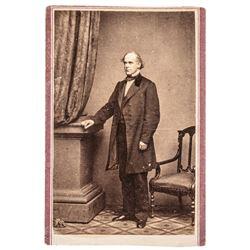 c. 1865 Civil War Salmon P. Chase - Anthony CDV Abe Lincolns Treasury Secretary