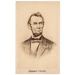 Advertising Carte de Visite of President Abraham Lincoln by Siegel, Bobb + Co.