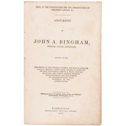 1865 Book: Trial of the Conspirators for the Assassination of President Lincoln,