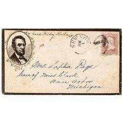 1865 Lincoln Cover - Assassinated at Fords Theater Washington by J Wilkes Booth