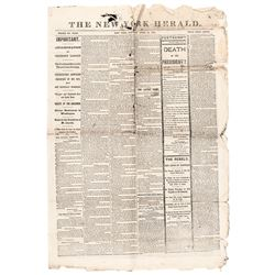 Four Historic 1865 Abraham Lincoln Assassination Issues of the NEW YORK HERALD