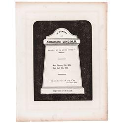 c. 1865 President Abraham Lincoln Mourning Period Memorial Broadsheet Advert.