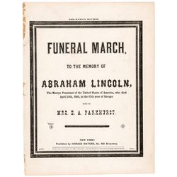 1865 1st Edition ABRAHAM LINCOLN Memorial Sheet Music: The Nation Mourns...