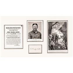 THOMAS P. (BOSTON) CORBETT Autograph Card of The Man Who Shot John Wilkes Booth