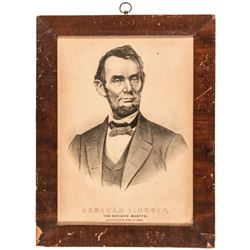 c. 1865 Pair of Abraham Lincoln Assassination Mourning Period Framed Prints