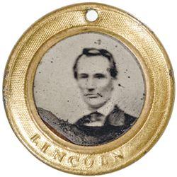 Rare 1860 ABRAHAM LINCOLN + HANNIBAL HAMLIN Presidential Campaign Ferrotype