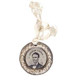 1860 Beardless Abraham Lincoln + Hannibal Hamlin Presidential Campaign Ferrotype