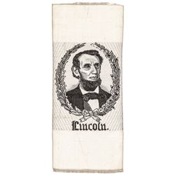 1865 Abraham Lincoln Silk Mourning Ribbon Rare Design Type Choice Extremely Fine