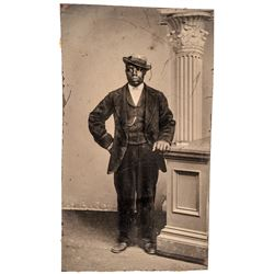 c. 1860-70 Dapper Finely Dressed African American Man Tintype Photo, Philadelphia