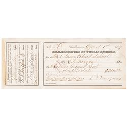 1877 Reverend L. Morgan, Colored School COMMISSIONERS OF PUBLIC SCHOOLS Reciept