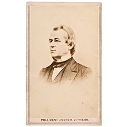 Carte de Visite Photograph of PRESIDENT ANDREW JOHNSON