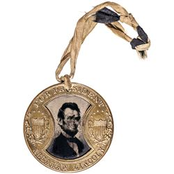 1864 Abraham Lincoln/Andrew Johnson Presidential Campaign Medal, GAULT Ferrotype