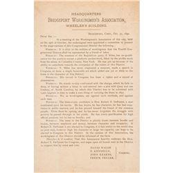 1865-1964 Extensive Connecticut Political Collection Election Tickets + Ephemera