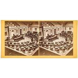 c 1866 Senate Chamber in U.S. Capitol Stereocard Publishers Information verso