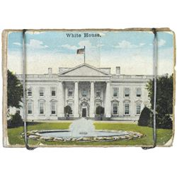Possibly Unique Macerated Currency, Bale of Paper, with a White House Image