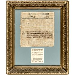 March 4, 1828-Dated N.Y. Hand-Stitched Sampler by Matilde Van Wie, Aged 8 Years