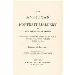 1877 THE AMERICAN  PORTRAIT GALLERY SET OF TWO HISTORICAL VOLUMES by J.C. Buttre
