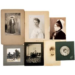 c. 1890 Lot of 41 Cabinet Card Photographs Depicting Images of Women