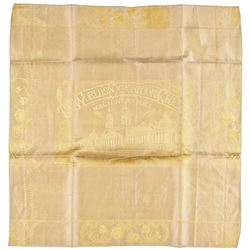 1893 Textile Columbian Exposition Bandanna Type Not Listed in Threads of History