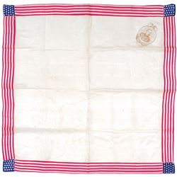George Dewey, The Hero of The Manila Fight - Patriotic Silk Kerchief