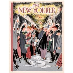 THE NEW YORKER Original Vintage Handpainted Cover Illustration Artwork NY Subway