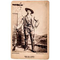 1886 Rare Buffalo Bill / Colonel William Cody Cabinet Card by Anderson, N.Y.