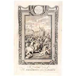 1792 AMOS DOOLITTLE Copper Plate Engraved Print: AMALEKITES defeated by JOSHUA