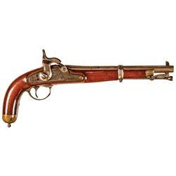 1864-Dated Civil War U.S. Military Experimental Pattern Percussion Pistol