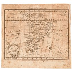 1793 AMOS DOLITTLE Copper Plate Engraved Map of South America Continent