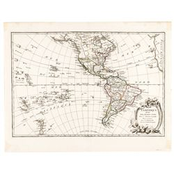 1806-Dated Hand-Colored Western Hemisphere Map Titled: L-Amerique