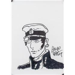 Hugo Pratt Italian Pop Art Ink on Paper