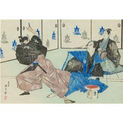 Suzuki Kinsen 1867-1945 Japanese C.1880s Fighting