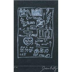 Jean-Michel Basquiat US Pop Art Linocut Signed