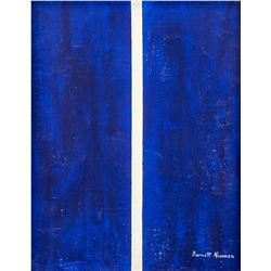 Barnett Newman American Abstract Oil on Canvas