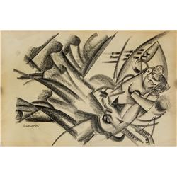 Gino Severini 1883-1966 Italian Graphite on Paper