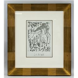 Framed Pablo Picasso Print of Doe with Cert