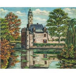 FRS. Wouters Oil on Canvas Kasteel Antwerp