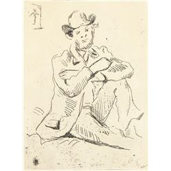 Paul Cezanne French Post Impressionist Etching