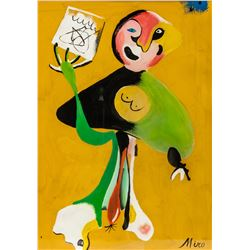 Joan Miro Spanish Surrealist Gouache/Paper