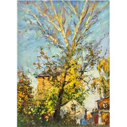 Artist Signed KPM Russian OOC Fall Scene