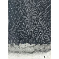 Hans Hartung German-French Oil on Canvas Abstract