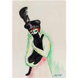 Kees Van Dongen Dutch-French Fauvist Watercolor