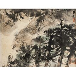Fu Baoshi 1904-1965 Chinese Watercolor on Paper